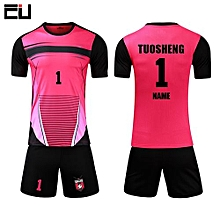 Casual Customized Men's Football Soccer Team Sports Jersey Uniform-Pink(1704)