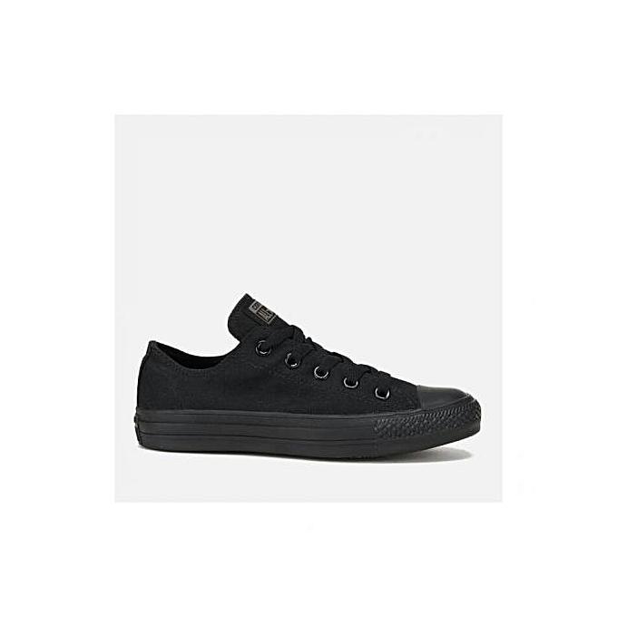 Black Low-Cut Canvas Rubber Shoes