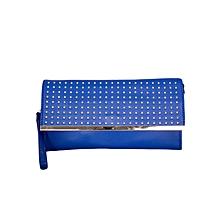 Blue Shoulder Bag/ Baguette