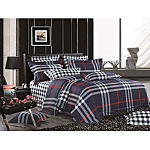 Multicolored 6*6 Checked Duvet (Colour May Slightly  Vary)- Navy Blue