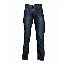 Navy Blue Straight Cut Jeans