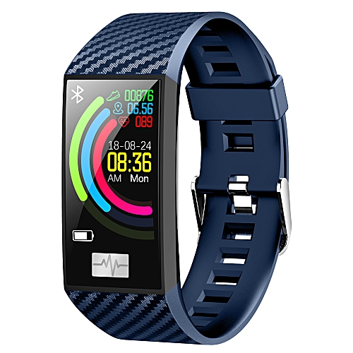 Color Screen Smart Watch Ppg + Hrv Ecg Blood Pressure Detection Weather  Forecast Multi-Sports Mode Can Swim - Blue