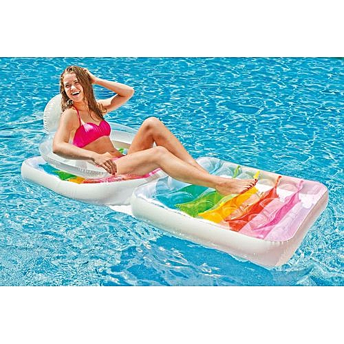 Intex Inflatable Folding Lounge Water Chair Pool Float