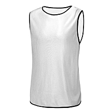 Football Training Bibs Team Vests Soccer Basketball Sports Jerseys Adult Clothes White (Intl)