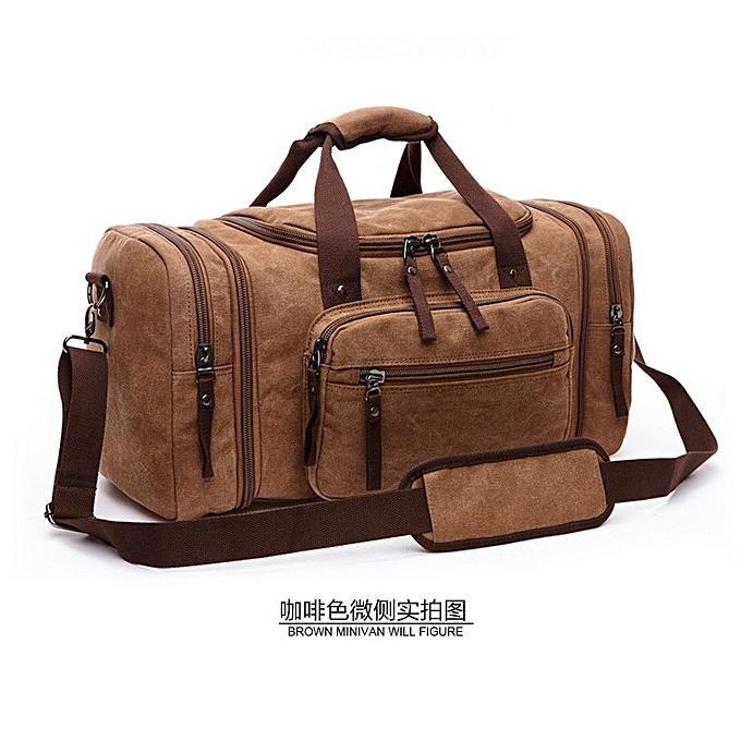 Unisex casual outdoor canvas handbag weekender bag multi-function large  capacity travel duffle bag 6ccd40e525ee7