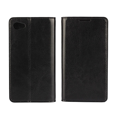 quality design e7106 6a362 Luxury Real Leather Wallet Case Cover for Sony Xperia Z5 Compact
