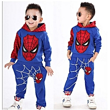 Comfortable  2 Colors Spiderman Child Sports Suit 2 Pieces Set Tracksuits Boys Clothing Sets Coat+Pant Christmas Gift For Kid