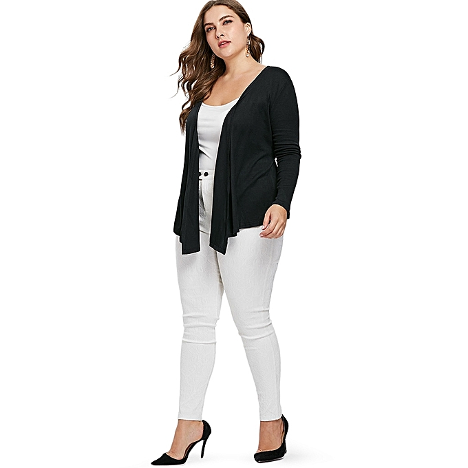 33eb1f4bc4b6a Generic Fashion Leadsmart Plus Size Wrap Coat with Belt   Best Price ...