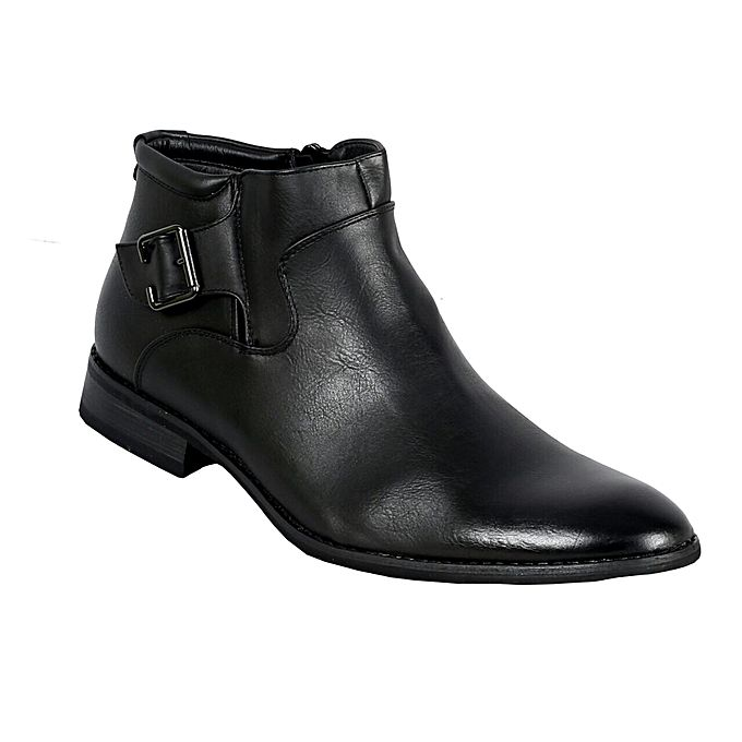 Black Men 039 S Official Leather Boots With Rubber Sole
