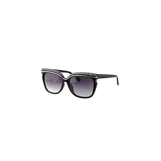 921431aac8 ... EOZY FASHION Women Oversized Sunglasses Ladies Eyeglasses Outdoor Beach  UV Protection Sun Glasses Eyewear (Black ...
