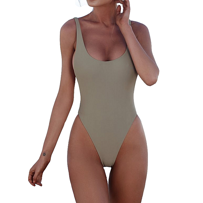 4476f8a8ae8a6 New Solid Mint Green Monokini Women One Piece Swimsuit 6-12 Backless Bathing  Suit Girl