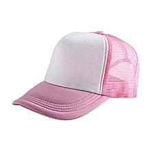 New Arrival Adjustable Child Solid Casual Hats For New Classic Trucker Summer Kids Baseball Golf Mesh Cap Sun Hats(Pink)