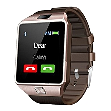 Executive Bluetooth Smartwatch with Camera - Brown and Gold