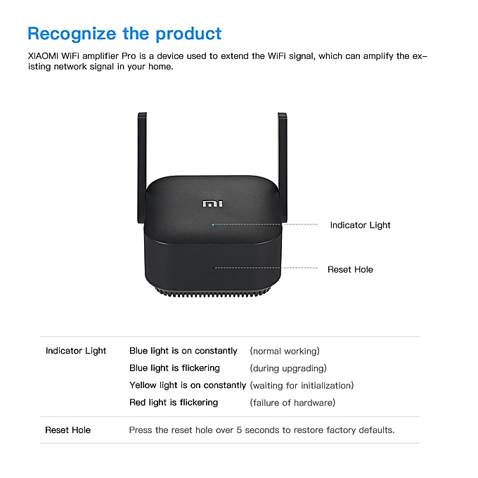 Xiaomi Mi WiFi Repeater Pro Extender 300Mbps Wireless Network Wireless  Signal Enhancement Network Wireless Router