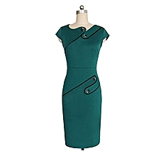 bae905bf7c2 Women  039 s Dress Stretch Dress Large Size Office Suit Green