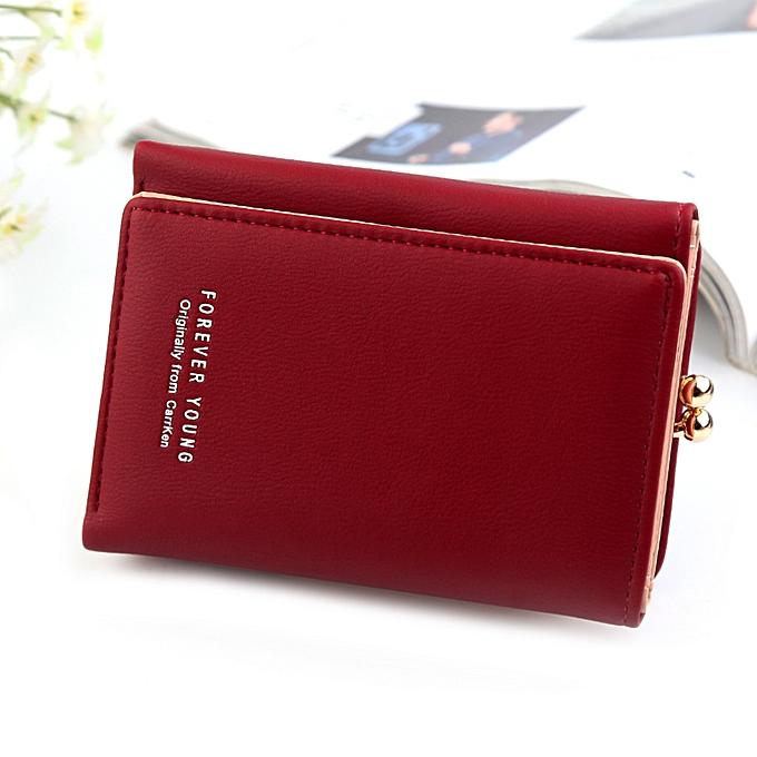 b06b3d398 Fashion Wallet Women's Short Wallet Fashionable Vertical Flat Thr ...