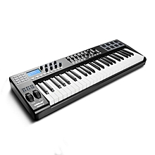 Portable MIDI Keyboard Controller 49 Key 8 Drum Pad MIDI Controller, 9 Faders 8 Knobs