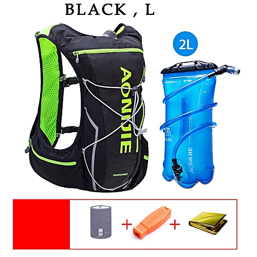 7a4122eab2 AONIJIE Cycling Bags Backpack Hydration Pack Backpack with 2L Water Bladder  for Running Hiking Cycling Climbing Camping(Black L)