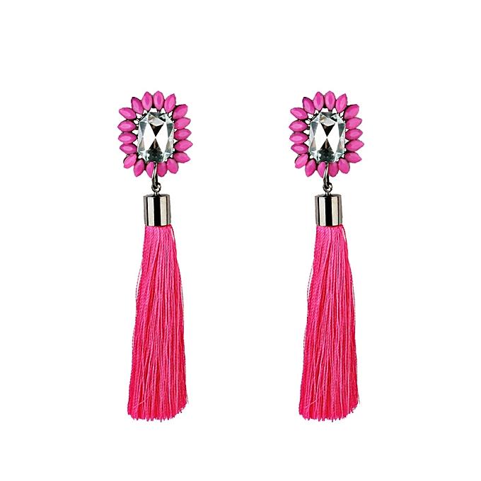 Shioakp Spherical Style Rhinestones Tel Dangle Stud Earrings Fashion Jewelry