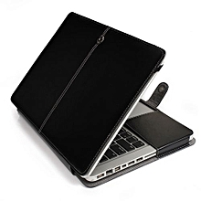 "13"" Pro With CD-ROM Case, One-piece Design Soft PU Leather Cover For 2008-2012 Macbook Pro 13.3 Inch, Black"