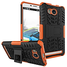 "For Lenovo A7700 Case, Hard PC+Soft TPU Shockproof Tough Dual Layer Cover Shell For 5.5"" Lenovo A7700, Orange"