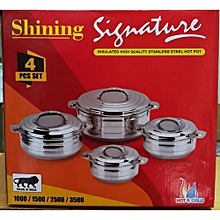 Signature Stainless Steel Insulated Hot Pot, 4PCs Set
