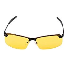 Yellow HD Night Vision Polarized Glasses UV400 Driving Sunglasses Eyewear