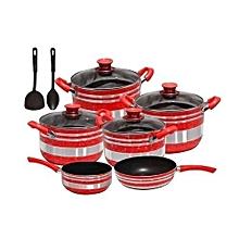 Non Stick Cooking Pots -10 Pieces multicolour