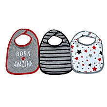 3 Pieces Washable Cotton Bibs - Born Amazing