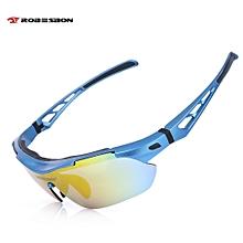 Robesbon TSR838 Windproof Cycling Sunglasses Bike Polarized Goggles Eyewear Blue