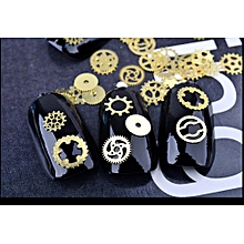 3D Decal Stickers Nail Art Tip DIY Decoration Stamping Manicure-Gold