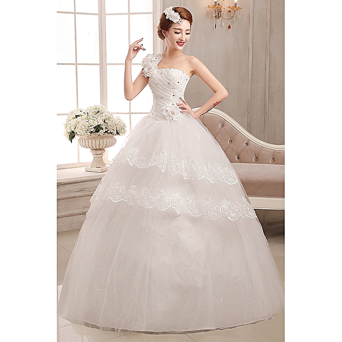 Buy Fashion Wedding Classic Embroidery Tulle Ball Gown At Best Price