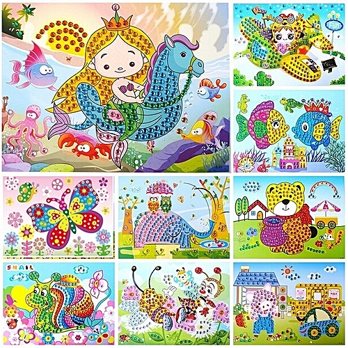 Buy Fashion 2pcs Z Crystal Diamond Mosaic Sticker Painting Kids