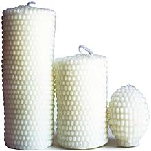 Artisan Candles White Pillar Set - 850g