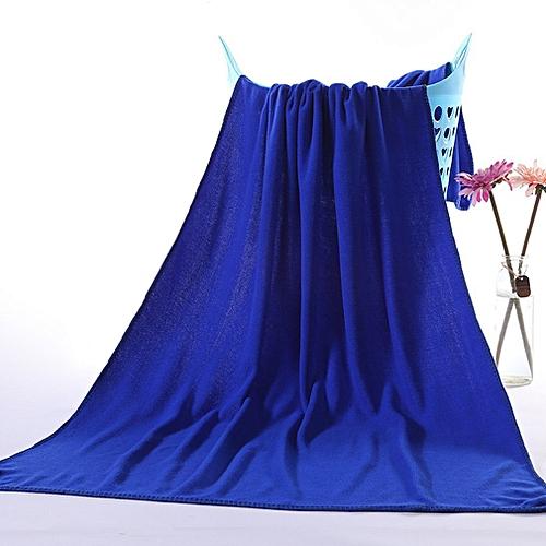 Allwin Microfiber Absorbent Drying Bath Beach Towel Washcloth Swimwear Hair Towel Royal Blue @ Best Price | Jumia Kenya
