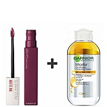 Buy Maybelline Superstay Matte Ink Liquid 40 Believer + Get free Garnier Micellar Oil-Infused Cleansing Water (Oil in Water) - 100ml