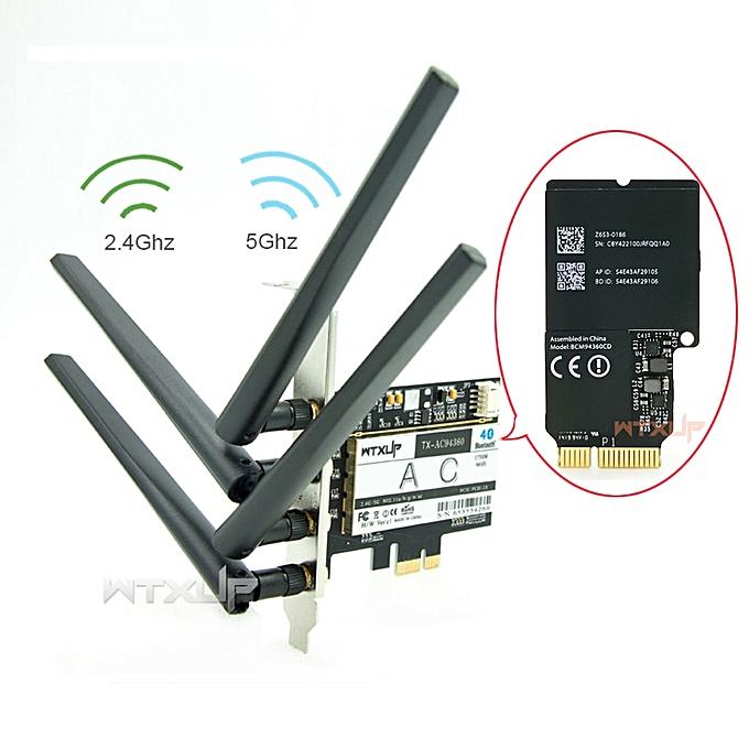 BCM94360CD 1300Mbps Dual Band 802 11AC Desktop PCI-E Wireless Card PC wifi  Adapter Bluetooth 4 0( )