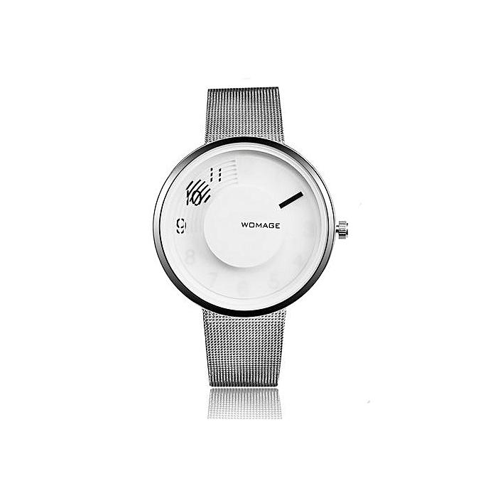 eb8d4a0a5 Refined New Ladies Steel Belt Fashion Women's Watch Simple Personality Watch -Silver