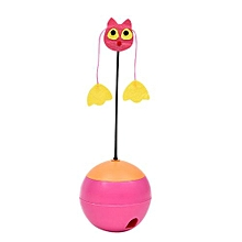 Electric Tumbler Toys 3 In 1 Multifunctional Laser Pet Cat Toys Tumber Leakage Food Toys Ball Toy Products-Pink