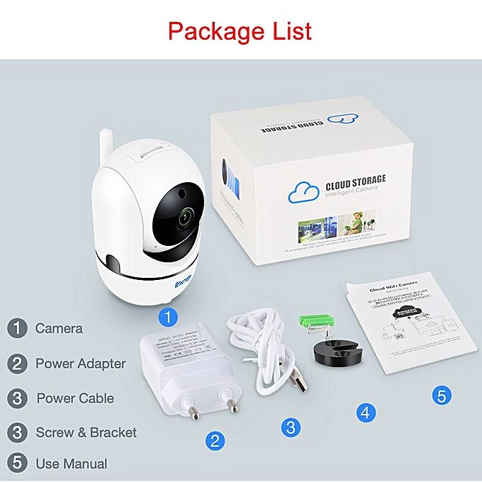 Techage 1080P 720P Wireless Auto Tracking Camera 2 Way Audio Sound IP  Camera SD Card Record Baby Pet Monitor Surveillance YCC365(1080P With 16G  Card)