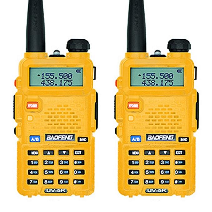 2pcsUV-5R Interphone Walkie Talkie Two Way Radio FM Transceiver Dual-band  DTMF VOX Alarm LED Flashlight Key Lock REMIO