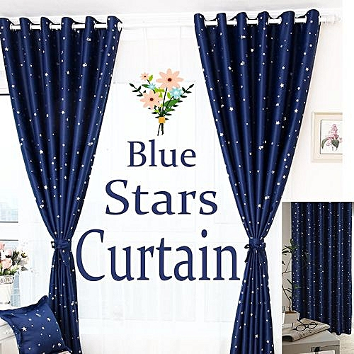 1ad38836bb73 Stars Kids Thermal Blackout Ready Made Eyelet Curtains - Dimout Energy  Saving