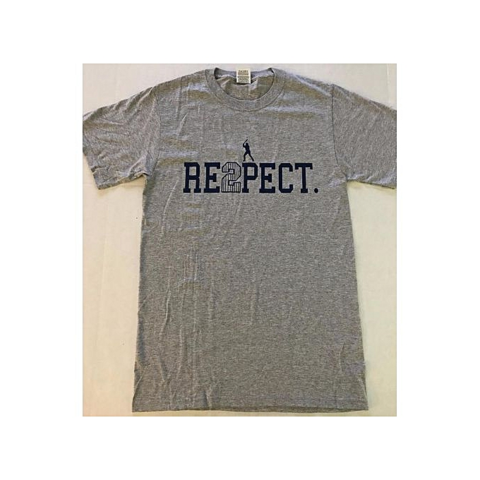 4d3c544e4 NY New York Yankees Captain Derek Jeter Respect (re2pect) Gray T-shirt
