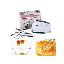 Scarlett Portable Super Hand Mixer Machine with 7 Speed Cake Cream Mixer Electric Egg Beater Flour Mixer with 4 pcs/ Stainless Steel beaters.