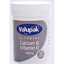 Calcium & Vitamin D-400mg 30's