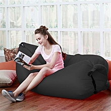 Inflatable Lounger, Portable Air Beds Sleeping Sofa Couch For Traveling, Camping, Beach, Park, Backyard With Bag Pocket - Black