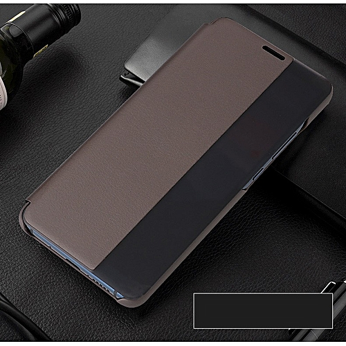 finest selection 3ab2d 16619 For Huawei Mate 10 Pro Case 100% Smart Case For Huawei Mate 10 Pro Flip  Case Mate10 Pro Mate10 Pro Cover Smart View Window Coque (Brown)