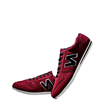 Men's Letter N Sport Running Sneaker Shoes - Maroon