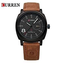 8139 Luxury Brand Men Quartz Watch Leather Strap Casual Military Army Watches Men Wristwatch Outdoor Sports Watch