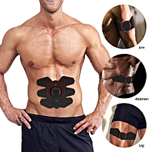 Abdominal Toning Belt AB Muscle Toner Trainer USB Rechargable Abs Training Fitness Machine Gear for Abdomen Arm Thigh Waist Support for Men and Women